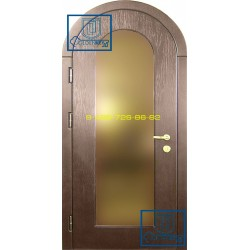 Арочная железная дверь
