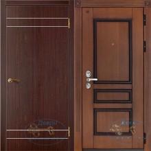 Металлические входные двери ламинат