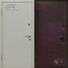 Стальная дверь со светлым ламинатом