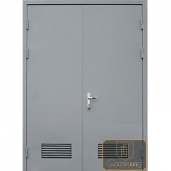 Двустворчатые двери в котельную ДД-ПХВ-ПХВ-02