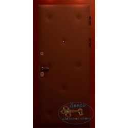 Металлическая дверь обшитая вагонкой ВД-ВГ-ВР 05