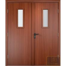 Дверь противопожарная двупольная остекленная
