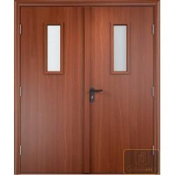 Дверь противопожарная двупольная остекленная ДМП-17