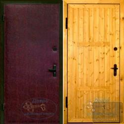 Металлические двери отделкой вагонкой ВД-ВГ-В 02