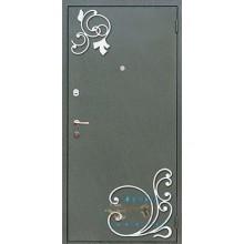 Входная металлическая дверь с элементами ковки