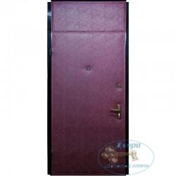 Дверь порошок + винилискожа с вставкой
