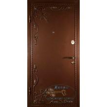Входные двери с порошковым напылением МДФ зеркалом