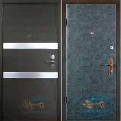 Металлические двери с зеркалом внутри ВД-МЗ-В 01