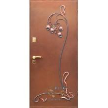 Входная дверь в квартиру КД-ПК-М 40 Порошковое напыление с ковкой-МДФ с доставкой и установкой в Москве от производителя