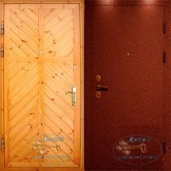 Металлическая дверь с вагонкой ВД-ВГ-П 10
