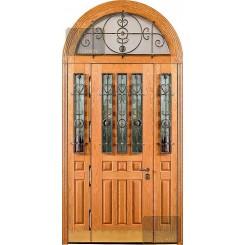 Арочная дверь из массива дуба МАС-49