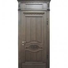 Парадная дверь с фрамугой