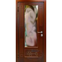 Входная дверь в квартиру КД-МЗ-Д 97 МДФ с зеркалом-натуральный массив дуба с доставкой и установкой в Москве от производителя