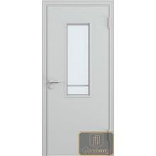 Дверь противопожарная однопольная остекленная