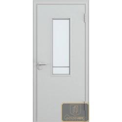 Дверь противопожарная однопольная остекленная ДМП-24
