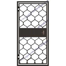 Тамбурная решетчатая дверь с установкой РД-20
