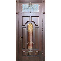 Входные двери коттеджа со стеклопакетом