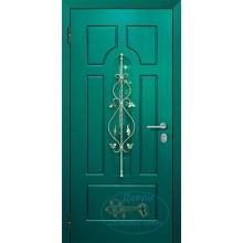 Двери со стеклопакетом и ковкой