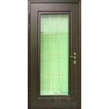 наружные металлические двери со стеклом