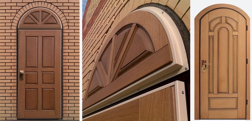 арочную входную дверь