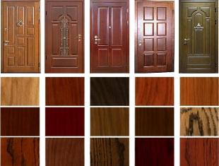 Современные материалы для отделки металлических дверей