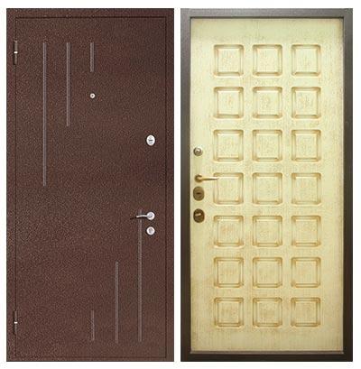 Входные двери с порошковым напылением с рисунком
