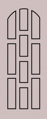 Образец фрезеровки металлической двери 1