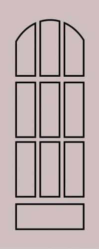 Образец фрезеровки металлической двери 6