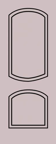 Образец фрезеровки металлической двери 32