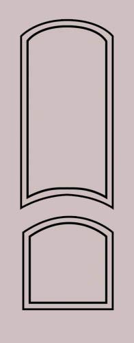 Образец фрезеровки металлической двери 33