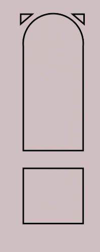 Образец фрезеровки металлической двери 34