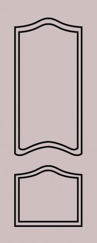 Образец фрезеровки металлической двери 36