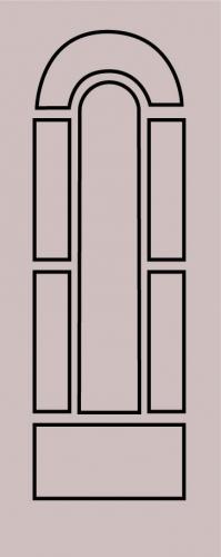 Образец фрезеровки металлической двери 40