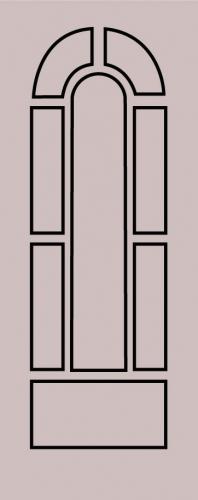 Образец фрезеровки металлической двери 41