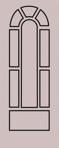 Образец фрезеровки металлической двери 42
