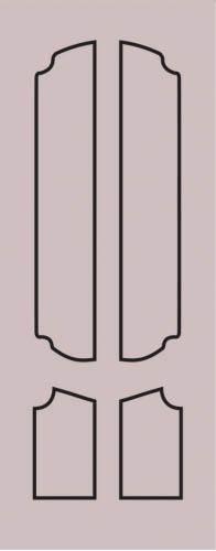 Образец фрезеровки металлической двери 70