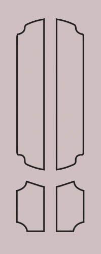 Образец фрезеровки металлической двери 73