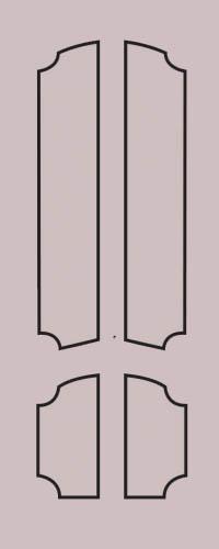 Образец фрезеровки металлической двери 75