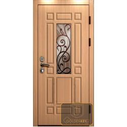Входная дверь частный дом со стеклопакетом