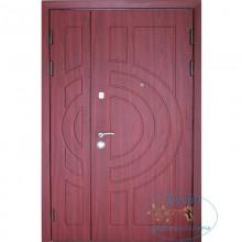 Металлическая дверь полуторная ДД-МДФ + МДФ