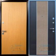 Недорогая железная дверь с ламинатом