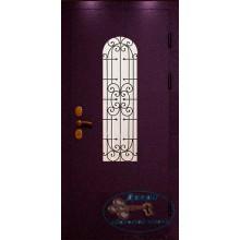 Двери для дачи ДД-ПС-М 52 Порошковое напыление со стеклом