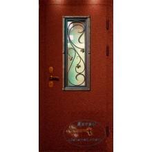 Двери для дачи ДД-ПС-ЛА 37 порошковое напыление со стеклом