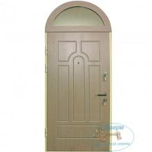 Входная дверь с арочной стеклянной вставкой A-13