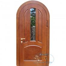 Арочные двери со стеклом A-15