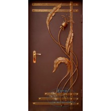 Железные двери с элементами ковки