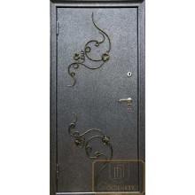 Входная дверь с ковкой и литьем МД-СК-Л-21