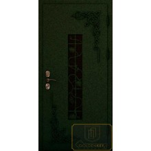 Входная дверь с ковкой и литьем МД-СК-Л-22