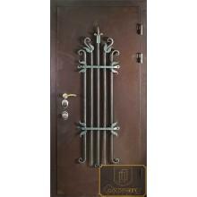 Входная дверь с ковкой и литьем МД-СК-Л-28