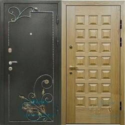 Дверь порошковое напыление с ковкой филенчатый МДФ